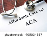 Small photo of Words Affordable Care Act ACA written on a paper.