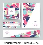 modern grunge brush design... | Shutterstock .eps vector #405038023