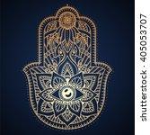 hamsa hand  hand of fatima  ...   Shutterstock .eps vector #405053707