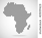 abstract map of africa from... | Shutterstock .eps vector #405059623