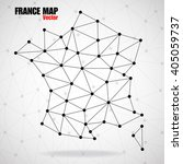 abstract polygonal france map... | Shutterstock .eps vector #405059737