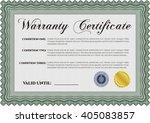 sample warranty template.... | Shutterstock .eps vector #405083857