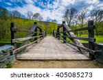 Wooden Bridge Over The...