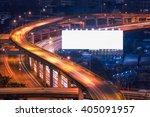 blank billboard ready for new...   Shutterstock . vector #405091957