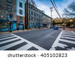 intersection in downtown... | Shutterstock . vector #405102823