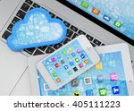 laptop  tablet pc  smart phone...   Shutterstock . vector #405111223