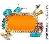 vector arabic frame | Shutterstock .eps vector #405113593