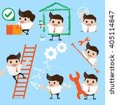 service concept businessman. | Shutterstock .eps vector #405114847