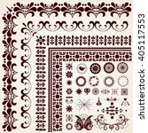 vector calligraphic design... | Shutterstock .eps vector #405117553
