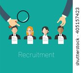 employee recruitment concept... | Shutterstock .eps vector #405157423