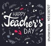 vector hand drawn lettering... | Shutterstock .eps vector #405158707