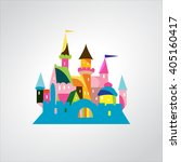 fairytale castle | Shutterstock .eps vector #405160417