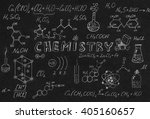 hand drawn science laboratory... | Shutterstock . vector #405160657