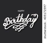 happy birthday card. handdrawn  ... | Shutterstock . vector #405172597
