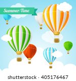 summer card with colorful hot... | Shutterstock .eps vector #405176467