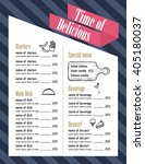 restaurant food menu design... | Shutterstock .eps vector #405180037