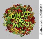 Cinco De Mayo. Cartoon Vector...
