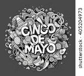 cinco de mayo sketchy outline... | Shutterstock .eps vector #405204973