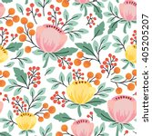elegant seamless pattern with... | Shutterstock .eps vector #405205207