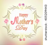 mother's day card  the label of ... | Shutterstock .eps vector #405209443