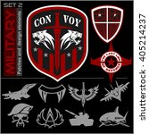 set of military patches logos ... | Shutterstock .eps vector #405214237