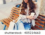 outdoor fashion details. sunny ... | Shutterstock . vector #405214663