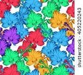 vector illustration of tropical ... | Shutterstock .eps vector #405220243
