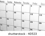 Calendar with weekdays - stock photo