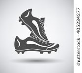 Soccer Pair Of Boots  Icon On...
