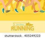 summer running marathon  people ... | Shutterstock .eps vector #405249223