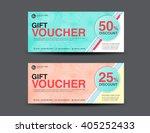 discount voucher template ... | Shutterstock .eps vector #405252433