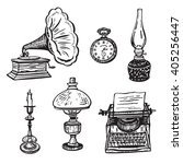 vintage objects vector graphic... | Shutterstock .eps vector #405256447