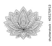 Vector Ornamental Lotus. Ethni...