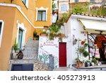 positano  italy   may 28  2015  ...   Shutterstock . vector #405273913