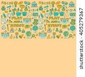 back to school doodle set.... | Shutterstock .eps vector #405279367