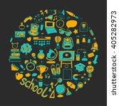 back to school doodle set.... | Shutterstock .eps vector #405282973