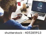 open opening homepage website... | Shutterstock . vector #405285913