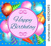 birthday.  | Shutterstock .eps vector #405292093