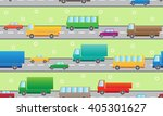 vector pattern with color cars.  | Shutterstock .eps vector #405301627