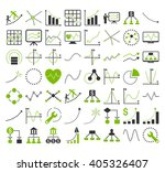 business charts with rectangle... | Shutterstock .eps vector #405326407
