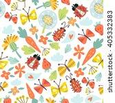 vector flower pattern. seamless ...   Shutterstock .eps vector #405332383