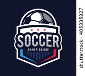 soccer logos  american logo... | Shutterstock .eps vector #405335827