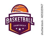 basketball logo  american logo... | Shutterstock .eps vector #405335947
