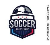 soccer logos  american logo... | Shutterstock .eps vector #405335953