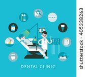 the treatment at the dentist | Shutterstock .eps vector #405338263