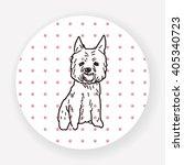 dog doodle | Shutterstock .eps vector #405340723