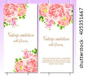invitation with floral... | Shutterstock . vector #405351667