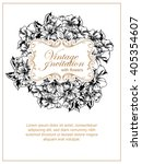 invitation with floral... | Shutterstock . vector #405354607