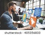 social network social media... | Shutterstock . vector #405356833