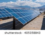 Arrays Of Solar Panels And Row...